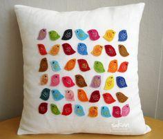 felt bird pillows