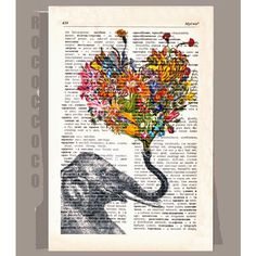 """Happy Mothers Day"" created by Rococco-LA by Zlatka Paneva & printed on repurposed, vintage dictionary paper"
