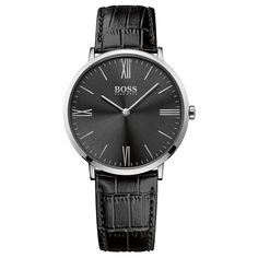 Buy Hugo Boss Gents Jackson Black Dial Black Strap Watch at Hugh Rice Jewellers. Free delivery on Hugo Boss. Hugo Boss Watches, Gents Watches, Watches For Men, Hugo By Hugo Boss, Burberry Men, Gucci Men, Jackson, Montres Hugo Boss, Bracelet Cuir
