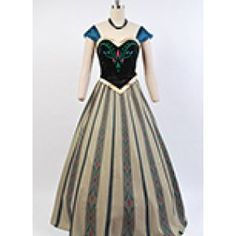 Disney-Movie-Frozen-Anna-Coronation-Dress-Cosplay-Costume-2