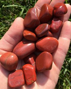 """Red Jasper Stone - tumbled gemstone - Red Jasper - healing crystals and stones - tumbled Red Jasper - root chakra crystals - energy crystals Listing is for (1) tumbled gemstone. Sizing is between 1/2"""""""