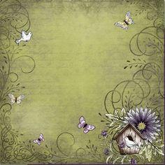Motylki Paper Patterns, Pattern Paper, Vintage Colors, Vintage Flowers, Pretty Green, Decoupage Paper, Heartfelt Creations, Diy Box, Writing Paper