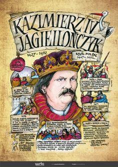 Kazimierz Jagiellończyk - Poczet królów polskich - PlanszeDydaktyczne.pl