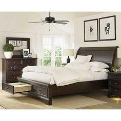 Aspen Home Bayfield California King Sleigh Storage Bed