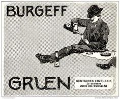 Original-Werbung/ Anzeige 1911 - BURGEFF GRUEN SEKT  - ca. 80 X 65 mm