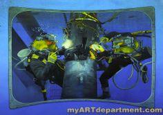 Dive Tank Pool Mural