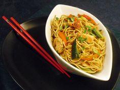 Recette Nouilles chinoises au poulet, par Chantal1697 - Ptitchef