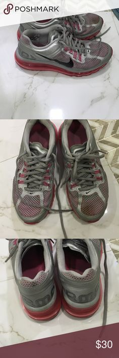 Nikeair max nike air max ~super comfy~ pink and grey~ 5.5 young Nike Shoes Athletic Shoes