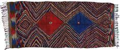 Vintage Moroccan Oriental Rug 4 x 10