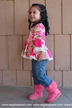 DIY - Toddler Peplum Top - Children's Clothing