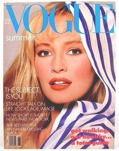 US Vogue June 1987 : Estelle Lefébure by Richard Avedon Vogue Magazine Covers, Fashion Magazine Cover, Fashion Cover, Vogue Covers, Mode Vintage Vogue, Vintage Vogue Fashion, Vintage Ads, 1987 Fashion, Fashion Models