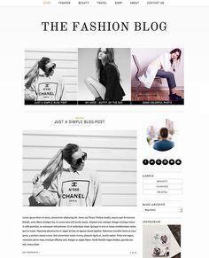 Blogger Template Premade Blog Design  thème de par SkyandStars