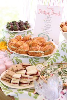 The top 20 Ideas About Birthday Brunch Ideas. the top 20 Ideas About Birthday Brunch Ideas . Kara S Party Ideas Mother Daughter Tea Party Birthday Girls Tea Party, Tea Party Birthday, 3rd Birthday, Princess Tea Party Food, First Birthday Brunch, Birthday Ideas, Birthday Lunch, Birthday Breakfast, Birthday Recipes