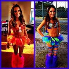 So cuuute, I'd definitely wear the one on the left to a rave