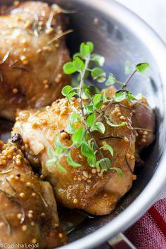 Frango assado com mostarda e mel | Cozinha Legal