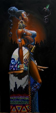 Royal Blue - 20x40 limited edition giclee - Frank Morrison