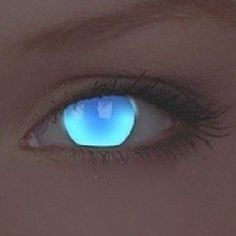 ColourVue UV Glow Electric Blue Crazy Colour Contact Lenses (1 Year)
