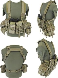 This would be the best! Doesn't interfere with the backpack. Perfect. Load Bearing Chest Rig