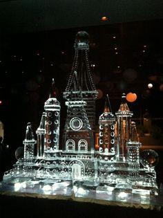 Customized Castle Ice Sculpture #artisanicesculptures.com