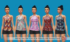 Here's some fancy jackets and halter tops for T-E female Sims! The jacket is a mesh by Sim4NY, be sure to download the mesh! Enjoy! -Download- Crop Jackets, 10 recolors, standalone item. Sim4NY mesh not included. Download the mesh, otherwise it will...
