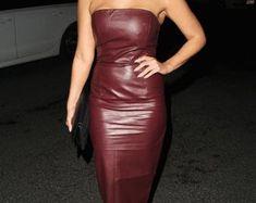 Women Genuine Lambskin Celebrity Leather Dress Plus Size Leather Jacket Dress, Leather Dresses, Light Photography, Lambskin Leather, Plus Size Dresses, Bodycon Dress, Trending Outfits, Celebrities, Etsy