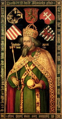 Emperor Sigismund, Holy Roman Emperor, King of Hungary and Bohemia (1368-1437), c.1600. Son of Charles IV, Holy Roman Emperor and Elizabeth of Pomerania, Husband of Mary of Hungry and Barbara of Celje