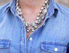 Crystal Necklaces by J.Crew