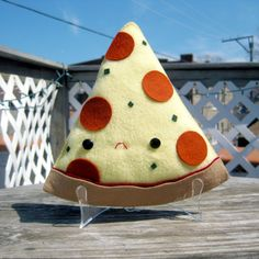 Always awesome work... Have A Pizza My Heart by SteffBomb #pizza #plush