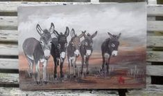original donkey painting by Wilma Potgieter Farm Paintings, Donkeys, Moose Art, Winter, Artist, Cute, Animals, Winter Time, Animales