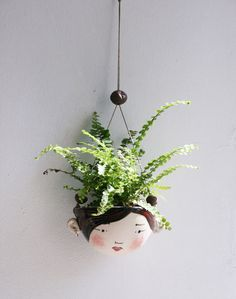 Ceramic mini hanging planter