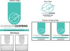 Logo Design and Shop Front Signage Design for Alexandria Oxspring Permanent Make-up in Chesterfield.