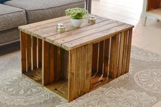Hogy lesz 6 faládából 1 új kávézóasztal?