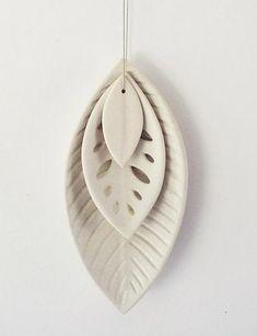 Reneé Boyd : Ceramic 3 Leaf Set - White