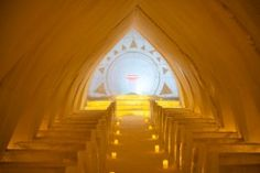 Icechapel of Arctic Snowhotel in Rovaniemi in Lapland