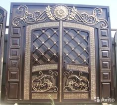 House Gate Design, Decor, Iron Doors, Wrought Iron, Puertas, Decoration, Decorating, Deco