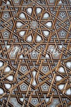 Detail of decoration on the minbar of the Al Rifai mosque,Cairo,Egypt