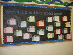 January bulletin board - either have the kiddos write about a book they have read this month or write about reasons why they like winter!