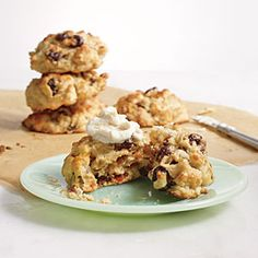 Cherry Almond Ricotta Drop Scones Recipe | CookingLight.com #myplate, #wholegrain