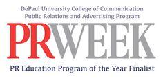 PRWeek Names DePaul PRAD Education Program of the Year Finalist | 2013 | News & Events | About | DePaul University