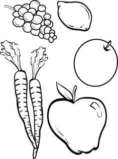 Fruits and Vegetables Coloring Pages - Fruits and Vegetables Coloring Pages , Fruit Picture to Print and Color Vegetable Coloring Pages, Fruit Coloring Pages, Coloring Pages For Kids, Easter Colouring, Coloring Book, Adult Coloring, Fall Fruits, Best Fruits, Vegetable Crafts
