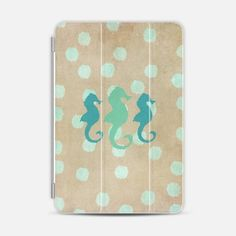Seahorse Trio and Polka Dots iPad Mini case by Lisa Argyropoulos | Casetify