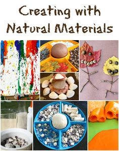 Creating with Natural Materials-10 fun ways to create with common natural materials. Also includes linky for even more creative ideas.