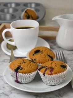 Muffins de arándanos y limón. Fáciles y deliciosos. ¡No te pierdas la receta!