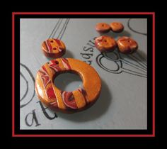 Polymer Clay, Facebook, Beads, Halloween, Pendant, Brown, Gold, Home Decor, Beading