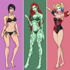 Catwoman, poison ivy and harley queen Dc Comics Girls, Dc Comics Art, Marvel Girls, Gotham City, Hq Marvel, Marvel Dc Comics, Batman Robin, Catwoman, Black Canary