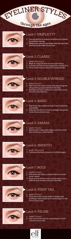 Simple Eyeliner Tutorials for Perfect Eyeliner Looks by Makeup Tutorials at http://makeuptutorials.com/makeup-tutorials-beauty-tips: