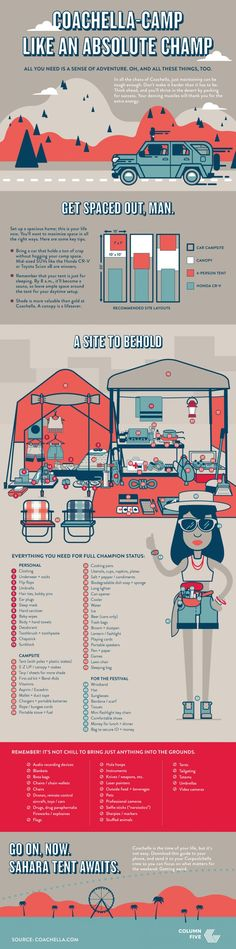 While you're totally freaking your face off that Coachella is almost here, try to remember that you need to pack all the necessities. Visual News created this rad infographic that will guide you through the packing process. Check it out!
