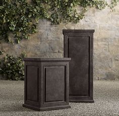 Pedestal: A heavy, wide-based column that supports a table or desk top and usually includes cabinets or drawers.  #pedestal