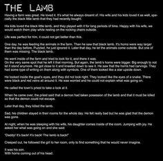Creepypasta picture-story #50: The Lamb