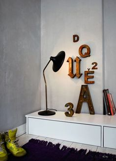 DIY letters for the wall  - Meet Stylist Peter Fehrentz - Decor8 blog